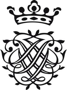 J. S. Bachs selbst entworfenes Siegel mit den spiegelbildlich ineinander verwobenen Anfangsbuchstaben seines Namens, JSB