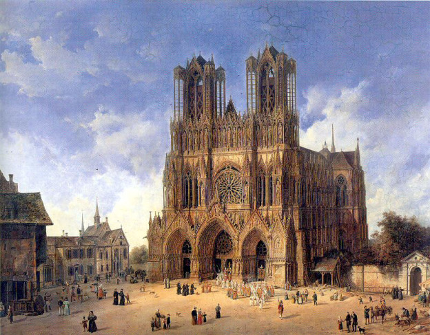 Die Kathedrale in Reims