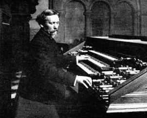 Eugène Gigout au grand orgue de l'église Saint-Augustin, 1902
