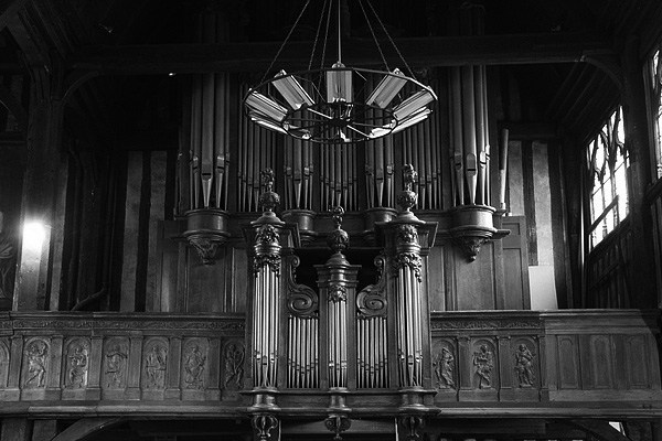 Orgel in der Kirche Sainte-Catherine in Honfleur