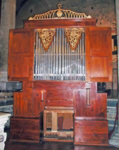 Tronci-Orgel von 1793 im Dom von Pistoia, dem Wirkungsort von Giuseppe Gherardeschi