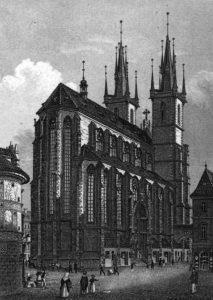 Teynkirche Prag, Druck aus dem 19. Jh.