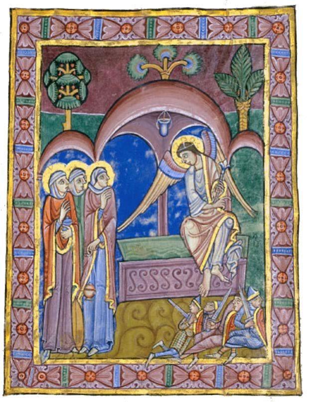 Drei Frauen am Grab