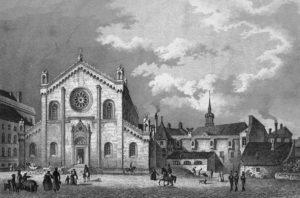 Allerheiligen Kirche München, Stich von 1838