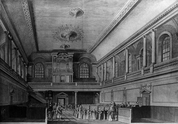 Foundling Hospital, London: Orgel gespendet von G. F. Händel.